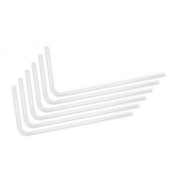 EK Waterblocks EK-Loop Hard Tube 12mm 0.8m Pre-Bent 90 - Acrylic (6pcs)