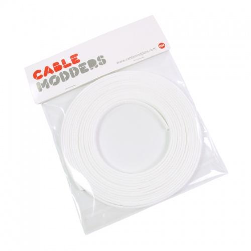 Frozen White Cable Modders U-HD Retail Pack Braid Sleeving - 10mm x 5 meters