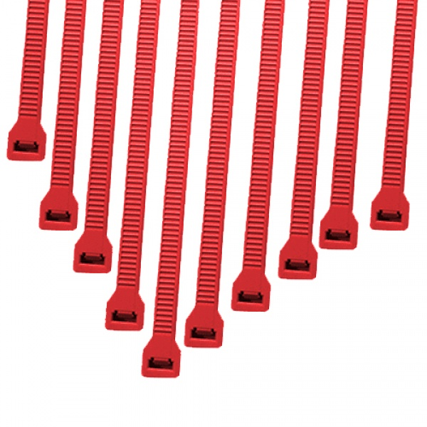 Cable Modders 2.4 x 100mm Cable Ties 10 Pack - Red