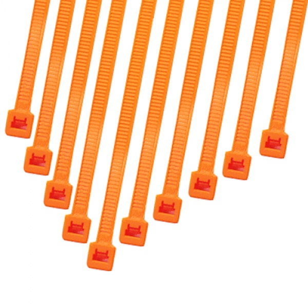 Cable Modders 4.8 x 200mm Cable Ties 10 Pack - UV Orange