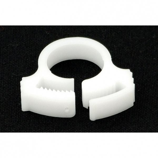 """PrimoChill White PVC Hose Clip 3/4"""" OD"""