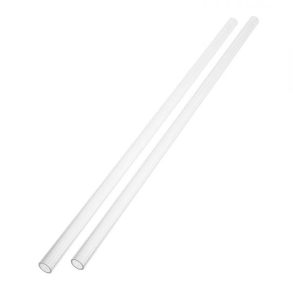 Barrow 14/10mm Rigid PETG Hard Tube, 500mm - 2 Pack - Clear