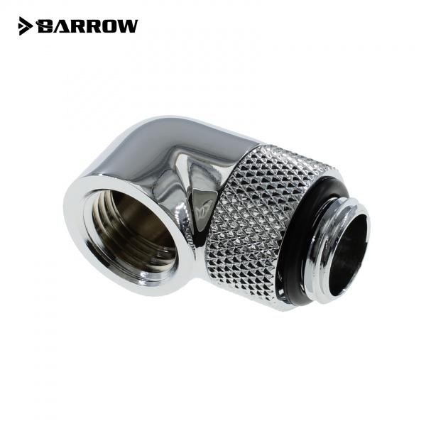 Barrow G1/4 Male Rotary to 90 Degree Female Angle - Shiny Silver