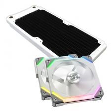 View Alternative product WCUK Spec XSPC TX240 White Radiator & Lian Li Fans Premium Kit