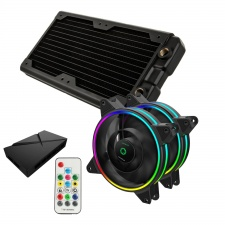 View Alternative product WCUK Spec HWL Black Ice Nemesis GTS240 Black Radiator & Game Max Fans with Controller Value Kit