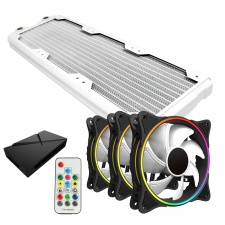 View Alternative product WCUK Spec HWL Black Ice Nemesis GTS360 White Radiator & Game Max Fans With Controller Value Kit