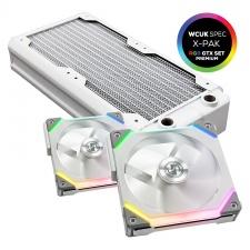 View Alternative product WCUK Spec HWL Black Ice Nemesis GTX360 White Radiator & Game Max Fans With Controller Premium Kit