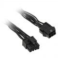 Adapter 6-pin PCIe to 8-pin CPU connector, black, 10cm