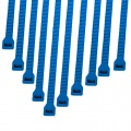 Cable Modders 2.4 x 100mm Cable Ties 10 Pack - Blue