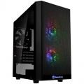 Silverstone PS15 Pro Micro-ATX case, ARGB, tempered glass - black