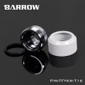 Barrow G1/4 - 16mm OD Twin Seal Hard Tube Compression Fitting - White (6 Pack)