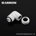Barrow G1/4 Male Rotary to 90 Degree, 12mm Hard Tube Compression Fitting - White