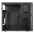 AeroCool QC-203 M-ATX Case USB3 Rubber Coated Fascia Black Interior No PSU