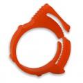 """PrimoChill UV Orange PVC Hose Clip 3/4"""" OD"""